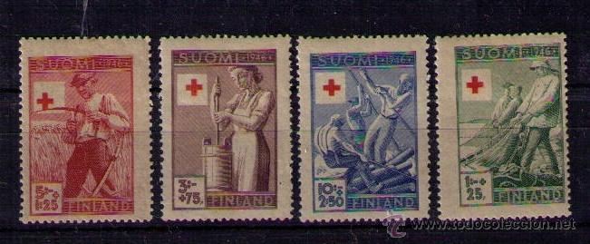 FINLANDIA 1946 - CRUZ ROJA - YVERT 305-308 (Sellos - Extranjero - Europa - Finlandia)