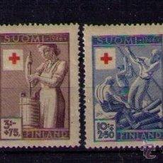 Sellos: FINLANDIA 1946 - CRUZ ROJA - YVERT 305-308. Lote 41425720