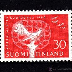 Sellos: FINLANDIA 497** - AÑO 1960 - FESTIVAL NACIONAL DE CARELIA. Lote 221975190