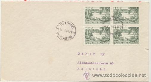 CARTA DE HELSINKI A HELSINKI. FRANQUEADA EL 24- 4 - 1961. (Sellos - Extranjero - Europa - Finlandia)