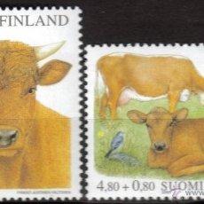 Francobolli: FINLANDIA 2000 - FAUNA VACAS Y CRUZ ROJA - YVERT Nº 1491-1492. Lote 45829637