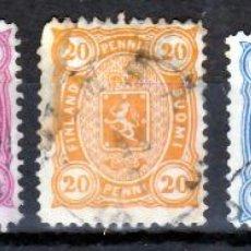 Sellos: FINLANDIA 1885 - SELLOS USADOS YVERT Nº 21/25 CAT. 29 €. Lote 47880974