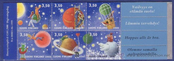 FINLANDIA 2000 CARNET FELICITACIONES NUEVO 1477 1482 LUJO MNH *** SC (Sellos - Extranjero - Europa - Finlandia)