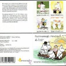 Sellos: FINLANDIA 1998 CARNET NUEVO LUJO LOS MOUMINS MUMMIES MNH ***. Lote 48451720