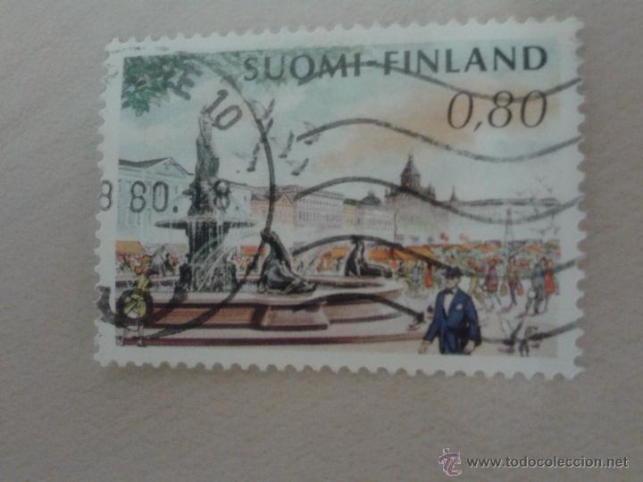 SELLO FINLANDIA MATASELLADO. 1976. PAISAJE URBANO (Sellos - Extranjero - Europa - Finlandia)