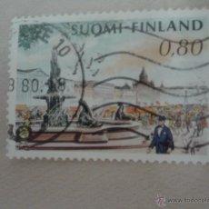 Sellos: SELLO FINLANDIA MATASELLADO. 1976. PAISAJE URBANO. Lote 49575442
