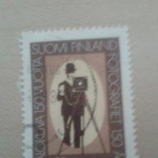 Sellos: SELLO FINLANDIA 1989. MATASELLADO. 150 AÑOS FOTOGRAFÍA. Lote 49575453