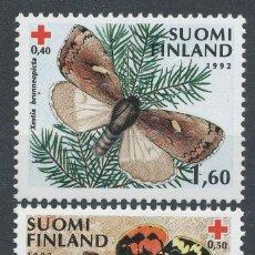 Sellos: FINLANDIA 1992 SERIE COMPLETA CRUZ ROJA MARIPOSAS NUEVO LUJO MNH *** SC. Lote 49636417