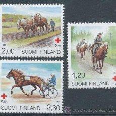 Sellos: FINLANDIA 1994 SERIE COMPLETA CRUZ ROJA FAUNA CABALLOS NUEVO LUJO YV-1211 A 1213 MNH *** SC. Lote 49636468