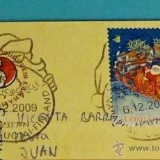 Sellos: TARJETA POSTAL CIRCULADA CON MATASELLO ESPECIAL SANTA CLAUS 6.12.2009. Lote 52437809