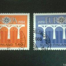 Sellos: SELLOS DE FINLANDIA. EUROPA CEPT. YVERT 908/9. SERIE COMPLETA USADA.. Lote 52565926