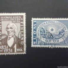 Sellos: SELLOS DE FINLANDIA. YVERT 159/60. SERIE COMPLETA USADA.. Lote 52740261