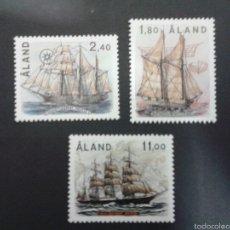 Sellos: SELLOS DE ALAND (FINLANDIA). BARCOS. YVERT 28/30. SERIE COMPLETA NUEVA SIN CHARNELA.. Lote 52740439