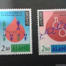 Sellos: SELLOS DE ALAND (FINLANDIA). EUROPA CEPT. YVERT 86/7. SERIE COMPLETA NUEVA SIN CHARNELA.. Lote 52740448