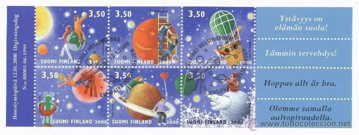 FINLANDIA 1999 2000 HB CON MATASELLOS ASTRONOMIA ESPACIO MNH *** SC (Sellos - Extranjero - Europa - Finlandia)