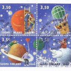 Sellos: FINLANDIA 1999 2000 HB CON MATASELLOS ASTRONOMIA ESPACIO MNH *** SC. Lote 54691217