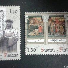 Sellos: SELLOS DE FINLANDIA. YVERT 865/6. SERIE COMPLETA USADA. . Lote 54835903