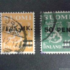 Sellos: SELLOS DE FINLANDIA. ESCUDOS. YVERT 168/9. SERIE COMPLETA USADA.. Lote 197075616