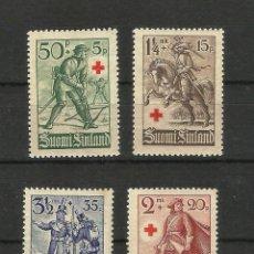 Sellos: FINLANDIA 1940 A BENEFICIO DE LA CRUZ ROJA. Lote 56488638