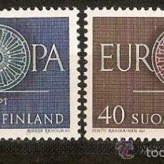 Sellos: FINLANDIA 1960 IVERT 501/2 *** EUROPA. Lote 57969219