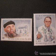 Sellos: FINLANDIA 1980 IVERT 831/2 *** EUROPA - PERSONAJES CÉLEBRES - NOBEL DE LITERATURA Y QUIMICA. Lote 58117905