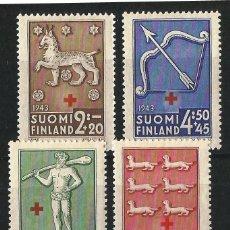 Sellos: FINLANDIA 1943 A BENEFICIO DE LA CRUZ ROJA. Lote 58635238
