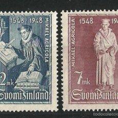 Sellos: FINLANDIA 1948 4º CENTENARIO DE LA TRADUCCION AL FINÉS DEL NUEVO TESTAMENTO. Lote 58635276