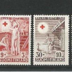 Sellos: FINLANDIA 1949 A BENEFICIO DE LA CRUZ ROJA SAUNA. Lote 58635317