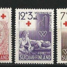 Sellos: FINLANDIA 1951 CRUZ ROJA DONACION DE SANGRE. Lote 58635388