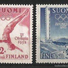Sellos: FINLANDIA 1951 SELLOS PROPAGANDA PARA JUEGOS OLIMPICOS. Lote 58635402