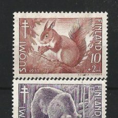 Sellos: FINLANDIA 1953 ANTITUBERCULOSOS FAUNA. Lote 58635418
