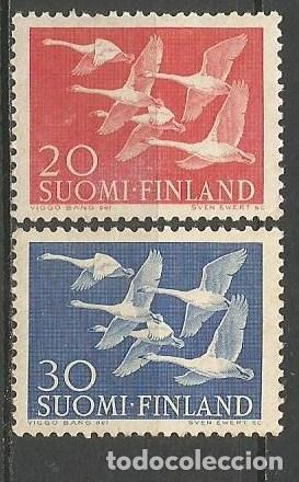 FINLANDIA YVERT NUM. 445/446 **SERIE COMPLETA SIN FIJASELLOS (Sellos - Extranjero - Europa - Finlandia)
