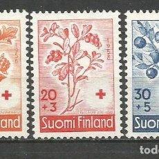 Sellos: FINLANDIA YVERT NUM. 477/479 SERIE COMPLETA NUEVA SIN GOMA. Lote 62871948