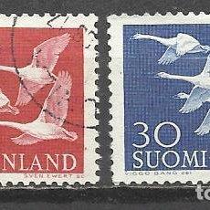 Sellos: 5451-SERIE COMPLETA FINLANDIA AVES 1956 Nº445/6. PÁJAROS.5451-COMPLETE SERIES FINLAND BIRDS 1956 Nº4. Lote 95215559