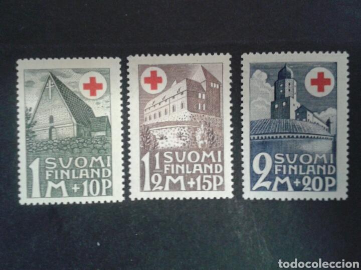 FINLANDIA. YVERT 161/3. SERIE COMPLETA NUEVA CON CHARNELA. CRUZ ROJA (Sellos - Extranjero - Europa - Finlandia)
