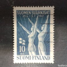 Sellos: FINLANDIA. YVERT 322. SERIE COMPLETA USADA. DEPORTES. GIMNASIA. Lote 99847854