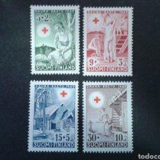 Sellos: FINLANDIA. YVERT 345/7. SERIE COMPLETA NUEVA SIN CHARNELA. CRUZ ROJA. Lote 99915508