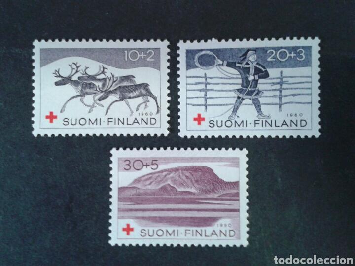 FINLANDIA. YVERT 504/6. SERIE COMPLETA NUEVA SIN CHARNELA. CRUZ ROJA. (Sellos - Extranjero - Europa - Finlandia)