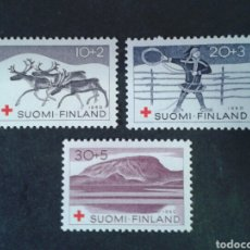 Sellos: FINLANDIA. YVERT 504/6. SERIE COMPLETA NUEVA SIN CHARNELA. CRUZ ROJA. . Lote 99918247
