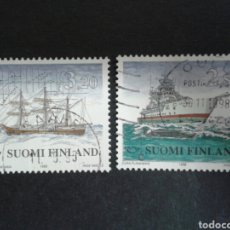 Sellos: FINLANDIA. YVERT 1401/2. SERIE COMPLETA USADA. BARCOS. Lote 197075758