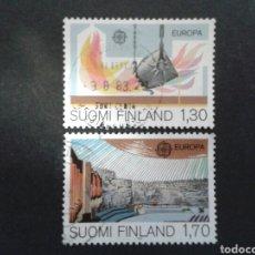 Sellos: FINLANDIA. YVERT 890/1. SERIE COMPLETA USADA. EUROPA CEPT.. Lote 100427043