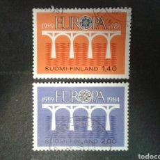 Sellos: FINLANDIA. YVERT 908/9 SERIE COMPLETA USADA. EUROPA CEPT.. Lote 100427280