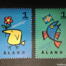 Sellos: ALAND (FINLANDIA). YVERT 107/8. SERIE COMPLETA NUEVA SIN CHARNELA.. Lote 100535234