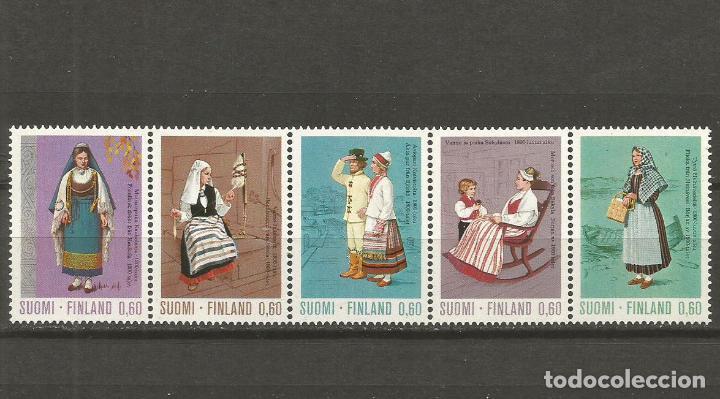 FINLANDIA YVERT NUM. 697/701 ** SERIE COMPLETA SIN FIJASELLOS (Sellos - Extranjero - Europa - Finlandia)