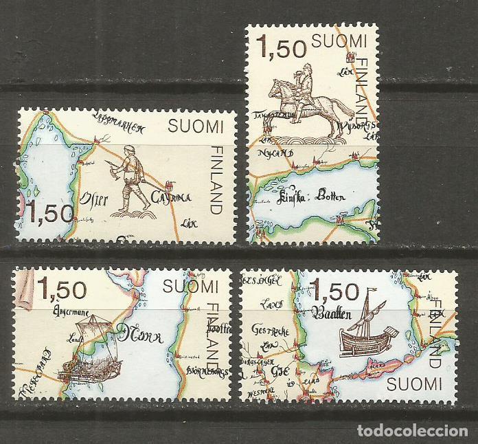 FINLANDIA YVERT NUM. 937/940 ** SERIE COMPLETA SIN FIJASELLOS (Sellos - Extranjero - Europa - Finlandia)