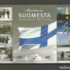 Sellos: FINLANDIA HOJITA YVERT NUM. 1836/1843 ** SERIE COMPLETA SIN FIJASELLOS. Lote 104723783