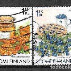 Sellos: BAYAS SILVESTRES Y DULCES. FINLANDIA. SELLOS AÑOS 2005/6. Lote 145432748
