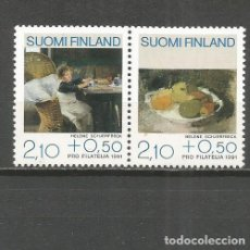 Sellos: FINLANDIA YVERT NUM. 1098/1099 ** SERIE COMPLETA SIN FIJASELLOS . Lote 119995043