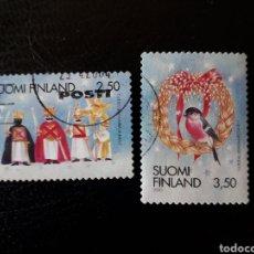 Sellos: FINLANDIA. YVERT 1509/10. SERIE COMPLETA USADA. NAVIDAD.. Lote 126280319