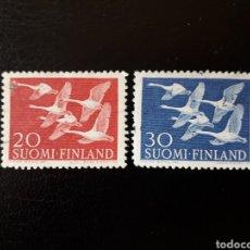 Sellos: FINLANDIA. YVERT 445/6. SERIE COMPLETA USADA. AVES. Lote 126286922